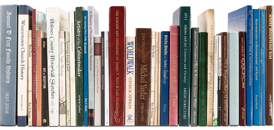 A variety of books printed at Carlisle Printing.