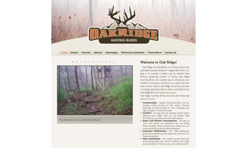 Oak Ridge Hunting Blinds Home Page