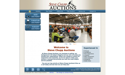 View the different types of auctions.