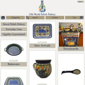 Old World Polish Pottery Website